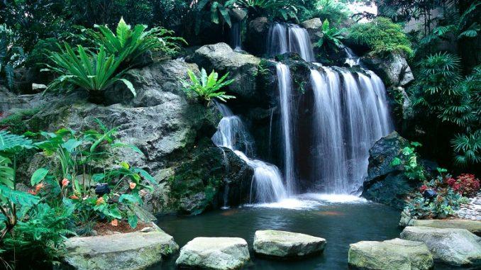 Sheraton Towers Singapore Hotel Wasserfall
